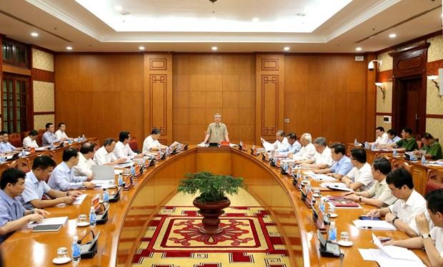 越共中央反腐败指导委员会:力争2019年底前结束对28起腐败案的调查 hinh anh 2