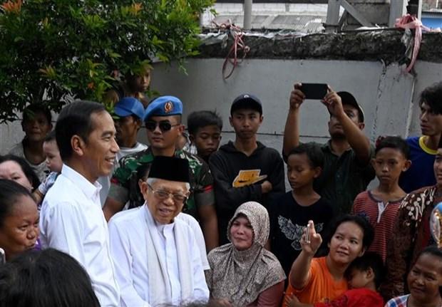 印尼总统佐科发表获胜讲话 示威游行活动不能改变大选结果的合法性 hinh anh 1