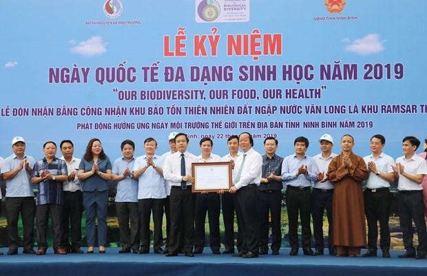 宁平省云龙湿地自然保护区成为越南第九个拉姆萨尔湿地 hinh anh 1