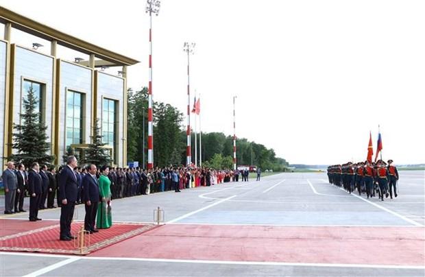 越南政府总理阮春福欢迎仪式在俄罗斯首都莫斯科举行 hinh anh 2