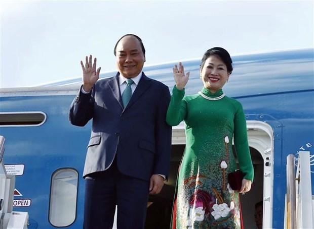 越南政府总理阮春福欢迎仪式在俄罗斯首都莫斯科举行 hinh anh 1
