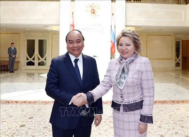 阮春福总理会见俄罗斯联邦委员会主席马特维延科 hinh anh 1