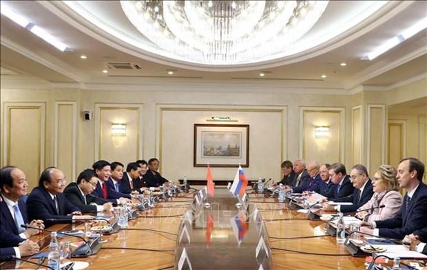 阮春福总理会见俄罗斯联邦委员会主席马特维延科 hinh anh 2