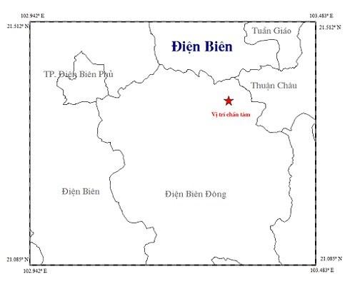 越南奠边省发生2.7级地震 hinh anh 1