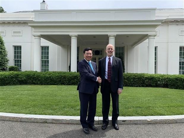 越南政府副总理兼外长范平明对美国进行正式访问 hinh anh 2