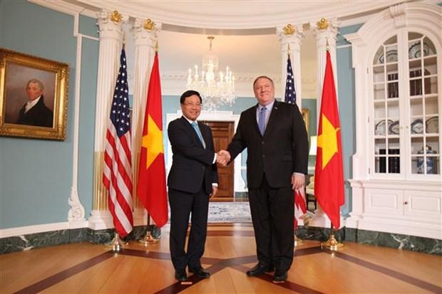 越南政府副总理兼外长范平明对美国进行正式访问 hinh anh 1
