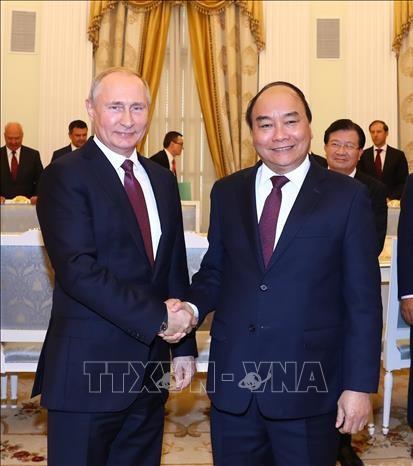 阮春福总理会见俄罗斯总统普京 hinh anh 1