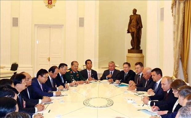 阮春福总理会见俄罗斯总统普京 hinh anh 2