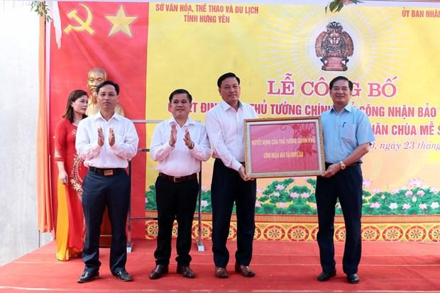 兴安省米楚寺观音像被列入越南国宝名录 hinh anh 1