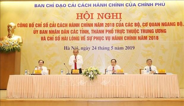 广宁省和国家银行在2018年行政改革指数排行榜上居首位 hinh anh 2