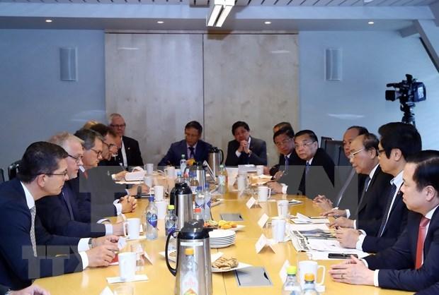 越南政府总理阮春福会见挪威领先集团代表 hinh anh 1