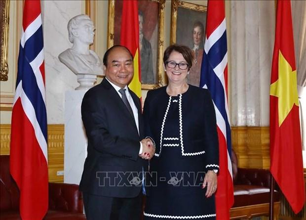 阮春福总理会见挪威议会议长托恩·特伦 hinh anh 1