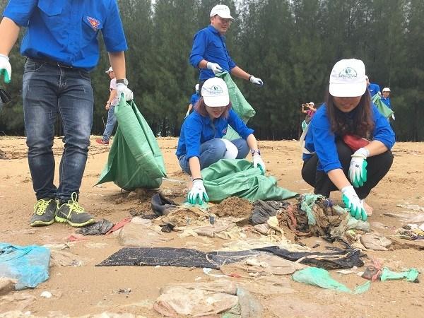 为了环境限制塑料垃圾行动月启动 hinh anh 1