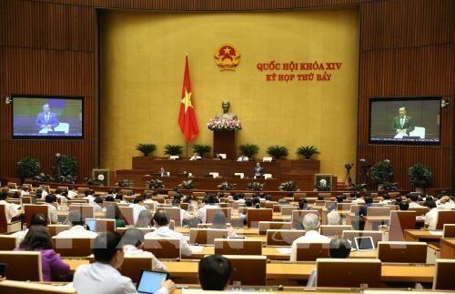 第十四届国会第七次会议:讨论城市土地相关法律政策的落实情况 hinh anh 1