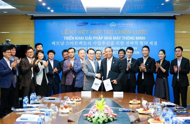 三星与越南CMC技术集团促进战略合作 hinh anh 1