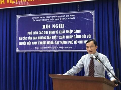 胡志明市加强《旅外越南人出入境法》推广宣传力度 hinh anh 1