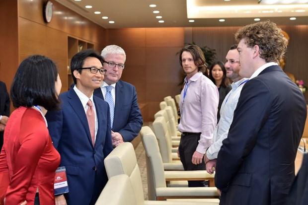 武德儋副总理会见越澳青年领导者论坛代表 hinh anh 2
