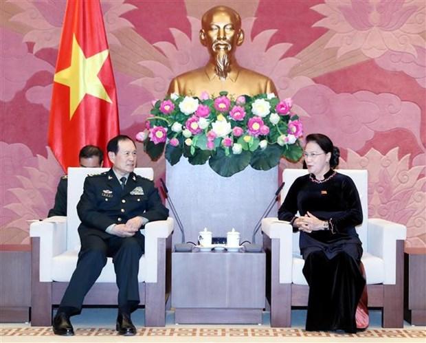 越南国会主席阮氏金银会见中国国防部部长魏凤和 hinh anh 1