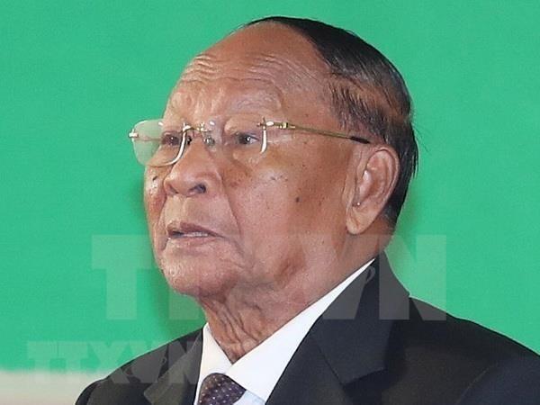 柬埔寨国会主席韩桑林开始对越南进行正式访问 hinh anh 1