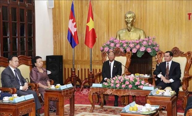 柬埔寨王国国会主席访问河南省 hinh anh 1