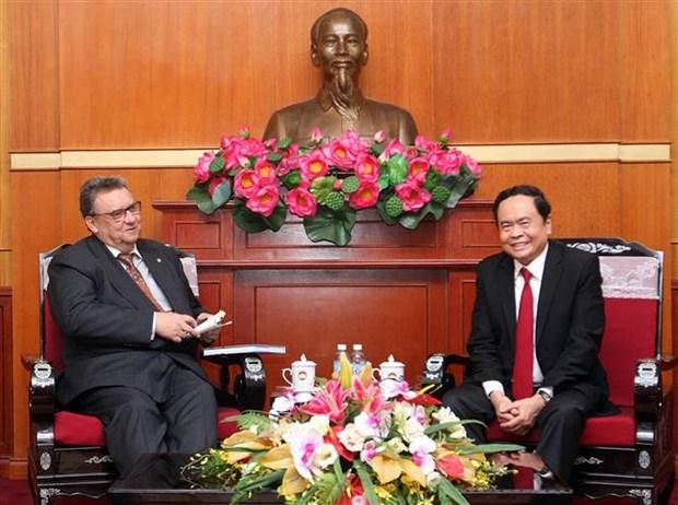 越南祖国阵线中央委员会主席陈青敏会见芬兰新任驻越大使 hinh anh 2