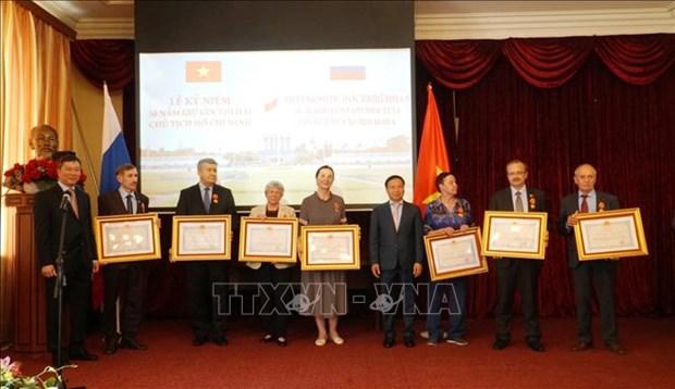 越南对俄罗斯专家在保护胡志明主席遗体方面所作出的贡献予以认可 hinh anh 1