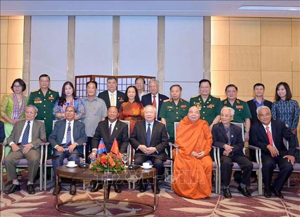 柬埔寨国会主席韩桑林圆满结束对越南的正式访问 hinh anh 1