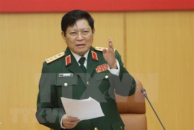 越南高级军事代表团赴新加坡出席第18届香格里拉对话 hinh anh 1