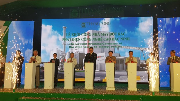 升龙能源公司投资逾1.3万亿越盾建设北宁高新技术垃圾焚烧发电厂 hinh anh 1