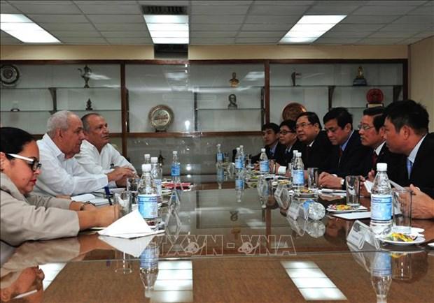 越南共产党代表团对古巴进行工作访问 hinh anh 2