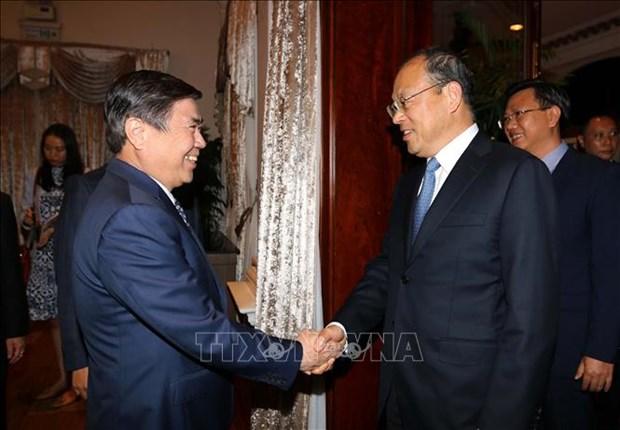 胡志明市与中国云南省加强多领域合作 hinh anh 1