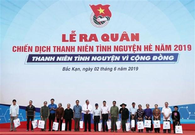 2019年夏天志愿服务战役启动仪式在北件省举行 hinh anh 1