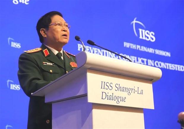 2019年香格里拉对话:越南防长吴春历支持以和平对话方式解决争端 hinh anh 2