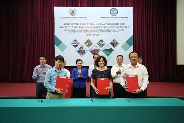 广南省主动加强与外国非政府组织的合作力度 hinh anh 1