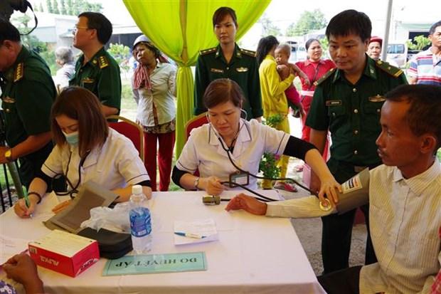 西宁省为越柬边境地区贫困人口免费看病送药 hinh anh 1