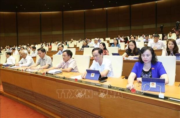 越南第十四届国会第七次会议对《公共投资法(修正案)》草案展开讨论 hinh anh 1