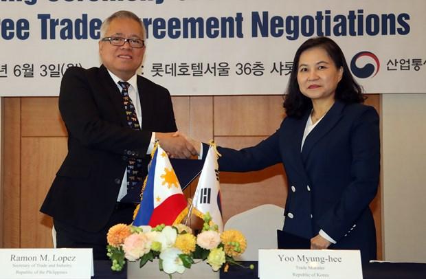 韩国促进与东盟各成员国自贸协定谈判 hinh anh 1