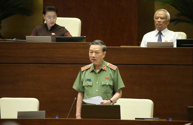 """越南公安部长:重拳打击涉毒违法犯罪不让越南成为毒品""""中转站"""" hinh anh 1"""