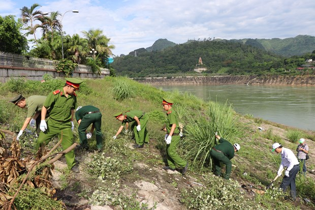 越南各地举行各类环保活动响应世界环境日 hinh anh 1