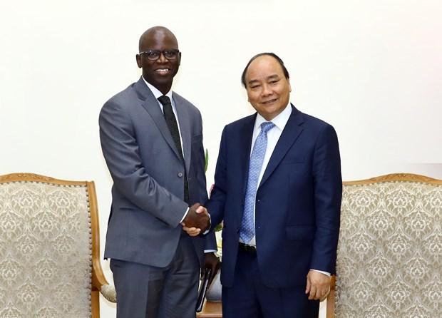 阮春福总理会见世行驻越首席代表奥斯曼·迪奥 hinh anh 1