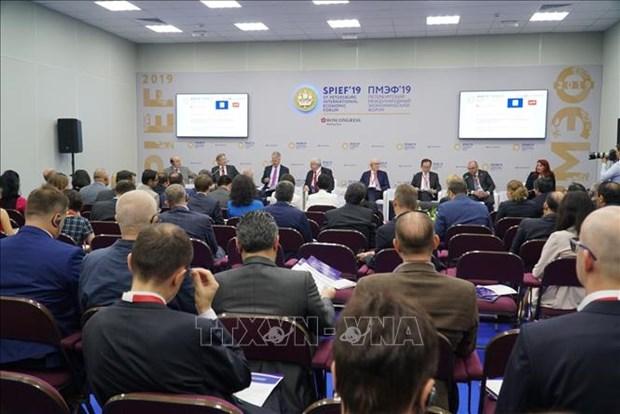 越南代表参加第二十三届圣彼得堡国际经济论坛 hinh anh 1