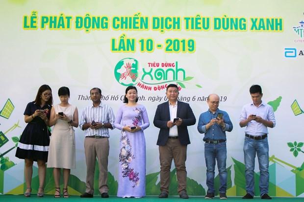 胡志明市举行多项活动 积极响应绿色消费计划10周年 hinh anh 1