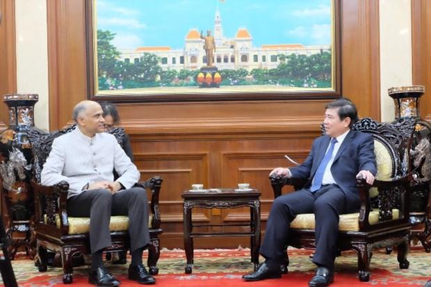 胡志明市与印度推动合作关系向更高层次更高质量发展 hinh anh 1