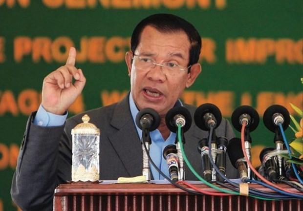 柬埔寨首相强烈谴责新加坡总理有关越南和柬埔寨的讲话 hinh anh 1