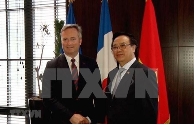 越南共产党代表团对法国进行工作访问 hinh anh 1