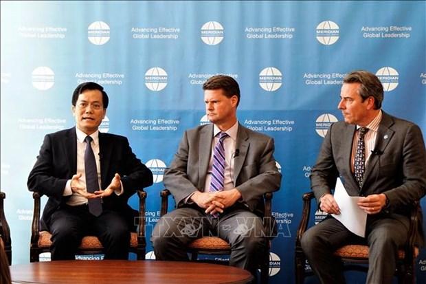 有关湄公河流域各国与美国合作关系的镁瑞丁外交论坛在华盛顿举行 hinh anh 1