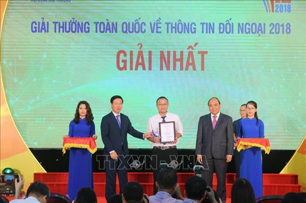 2018年全国对外新闻奖:VietnamPlus再次摘得一等奖 hinh anh 1