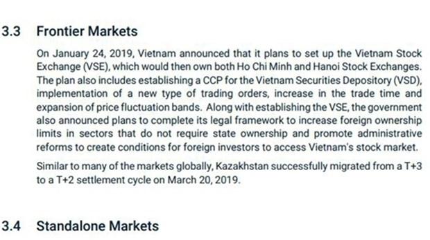 MSCI涉及越南的积极变化 hinh anh 1