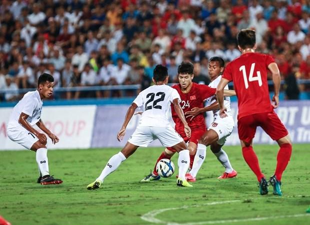 越南U23球队与缅甸U23球队国际足球友谊赛:越南2:0取胜缅甸 hinh anh 2