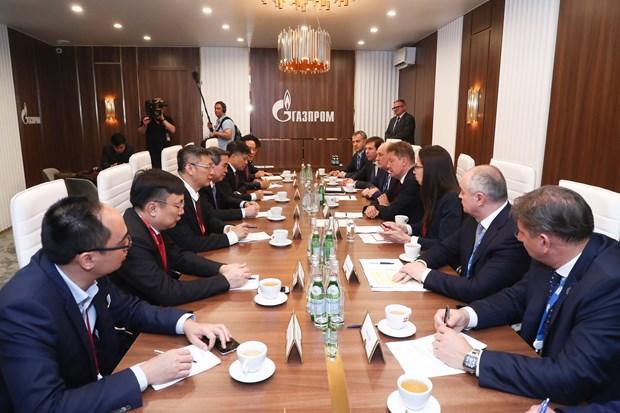越共中央经济部部长阮文平出席圣彼得堡国际经济论坛全体会议 hinh anh 1